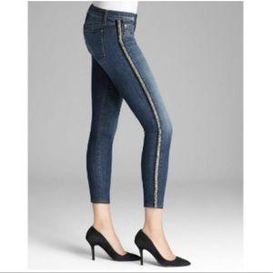 Hudson jeans Luna super crop sequin jeans
